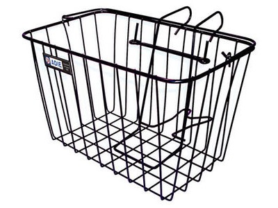 Adie Front Wire Basket in Black - Jumbo