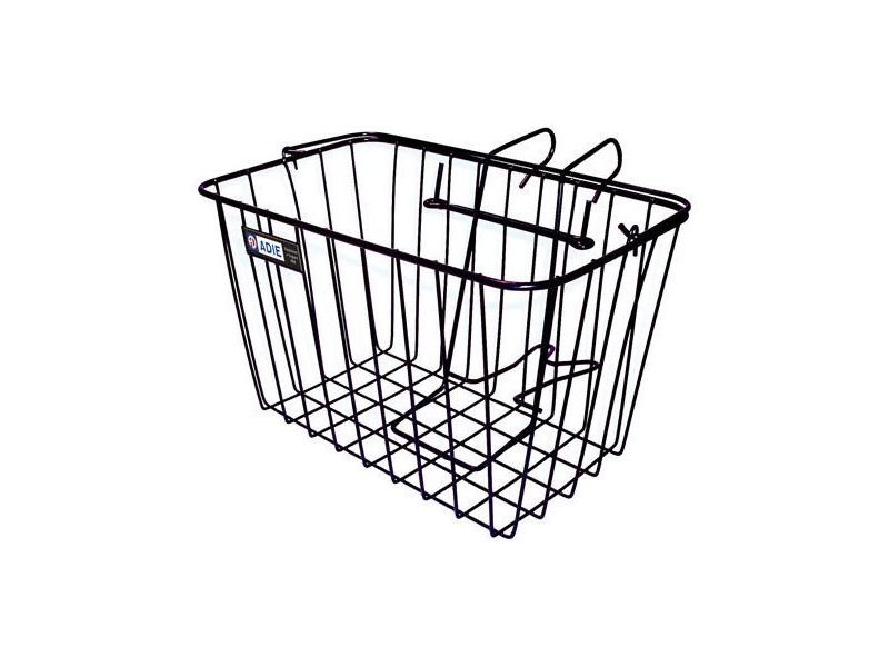 Adie Front Wire Basket in Black - Jumbo click to zoom image
