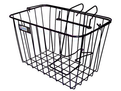 Adie Front Wire Basket in Black - Standard