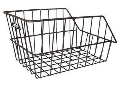 Adie Large Wire Rear Basket in Black