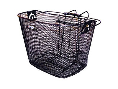 Adie Mesh Basket in Black Includes Metal Bracket