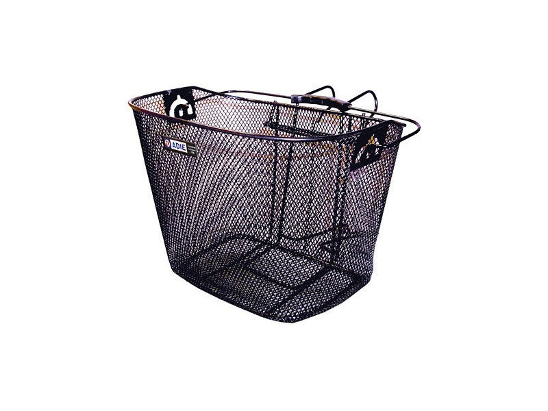 Adie Mesh Basket in Black Includes Metal Bracket click to zoom image