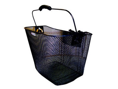 Adie Mesh Basket in Black Includes Snap Fit Bracket