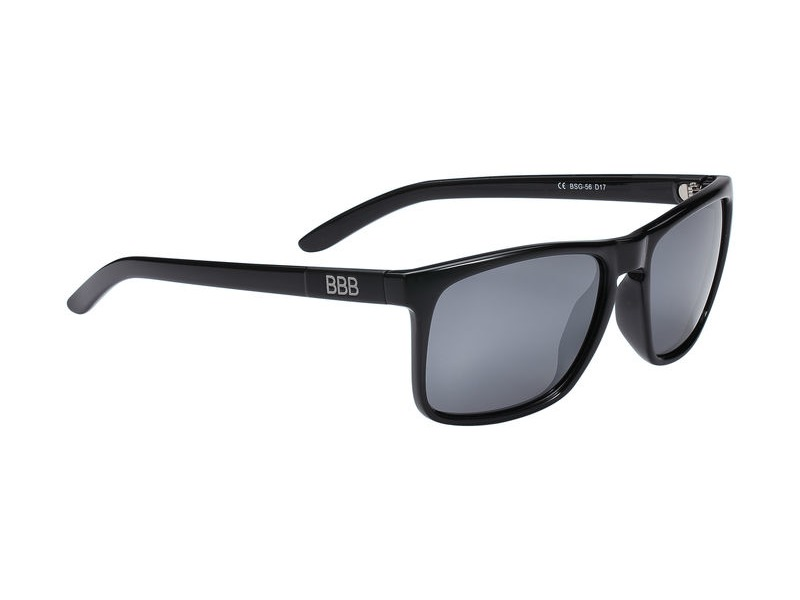 BBB Town Polarized Sunglasses Black, Mirrored Lenses click to zoom image