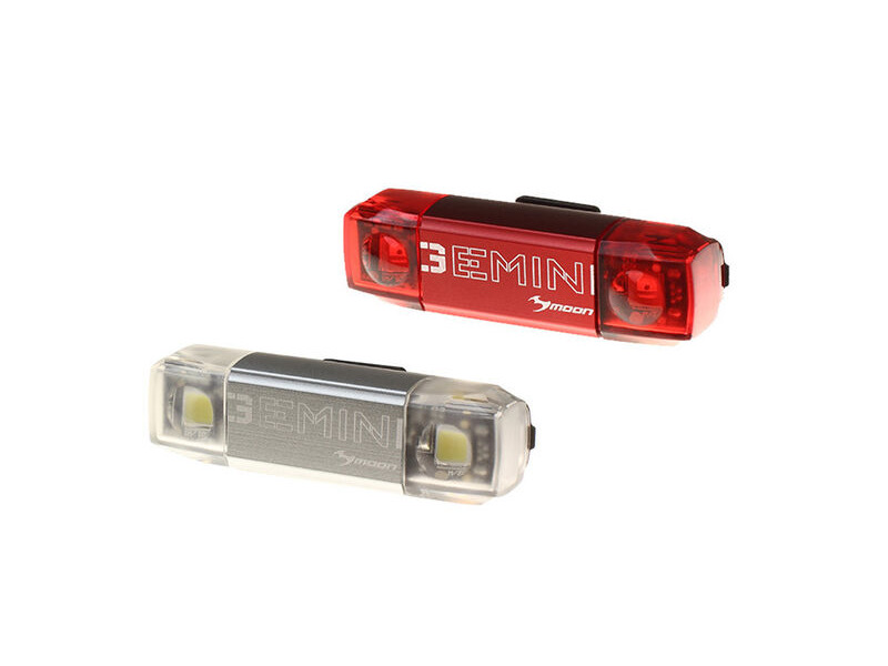 Moon Gemini Front And Rear USB Light Set click to zoom image