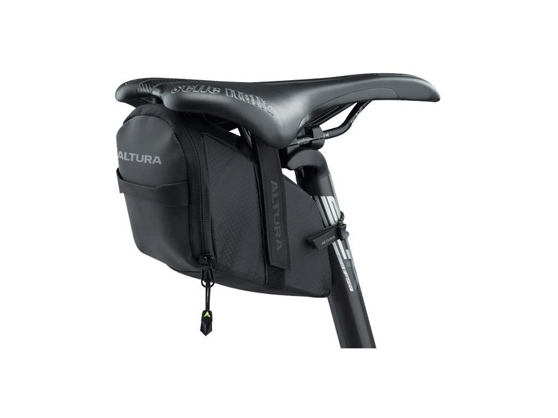 Altura Nv Road Saddle Large Bag: Black 0.8 Litre click to zoom image